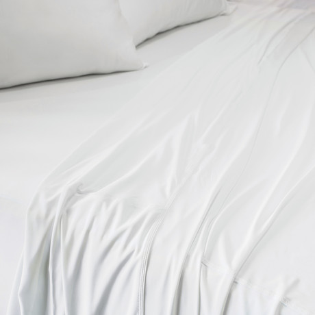 Sheet Set + Pillowcase Pair // Bright White (Twin/Twin XL)