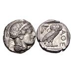 Athens Greece Silver Coin // Athena & Owl // 454-404 BC