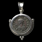 Roman Coin Pendant with Mars // Struck 281 AD