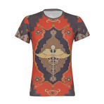 Tapestry Print T-Shirt // Multicolor (S)