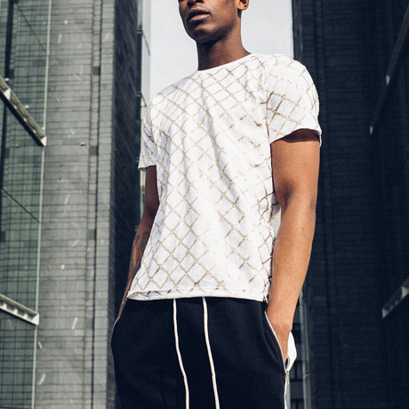 Gold Chain T-Shirt // White (S)