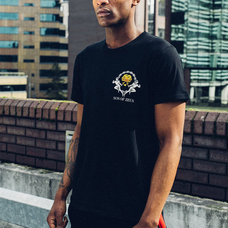 Gold Rose T-Shirt // Black (S)