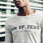 Grey Long Sleeve T-Shirt // Gray (S)