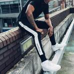 Striped Track Pants // Black + White (M)