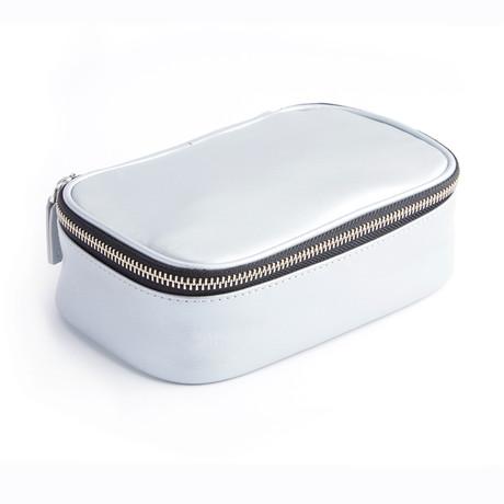 Zippered Travel Tech Case // Silver