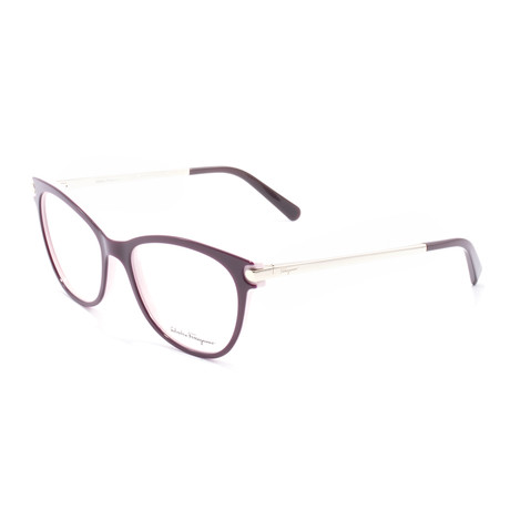 Women's SF2763 Optical Frames // Burgundy + Rose