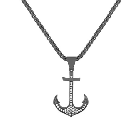 Dark Nautical Necklace // Black