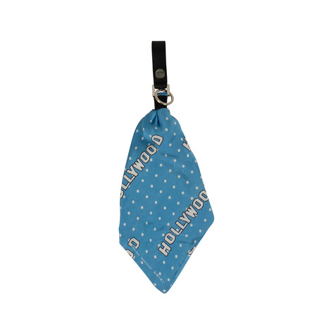 Unisex Hollywood Bandana Key Chain // Blue