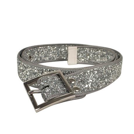 Unisex Glitter Long Belt // Silver
