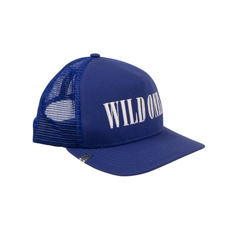 Men's Canvas 'Wild Ones Trucker' Baseball Cap // Blue