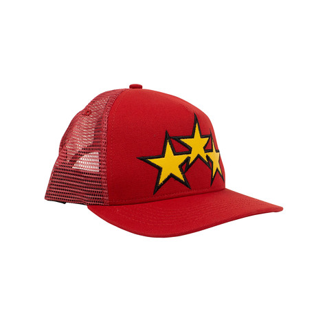 Men's 'Star Trucker' Baseball Cap // Red