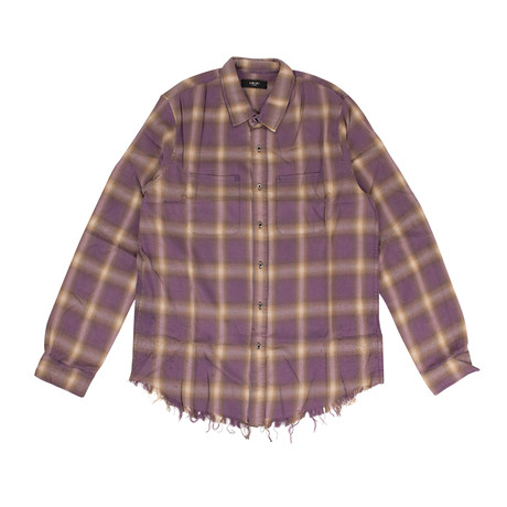 Men's Shotgun Plaid Shirt // Blue (XS)
