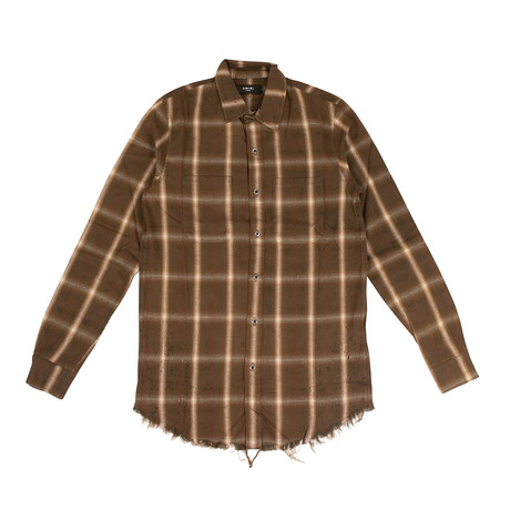 Men's Shotgun Plaid Shirt // Brown (XS)