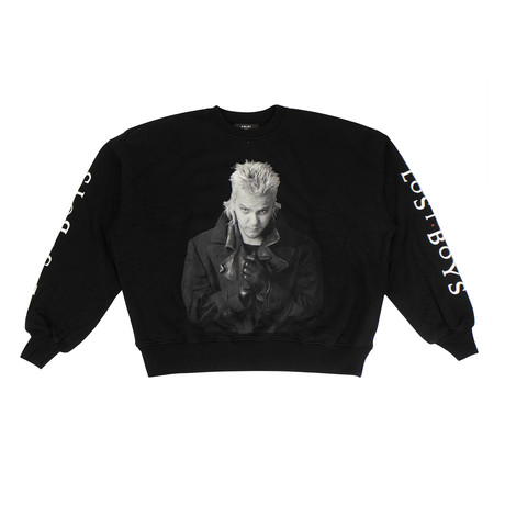 Men's 'Lost Boys' Loose Fit Sweatshirt // Black (XS)