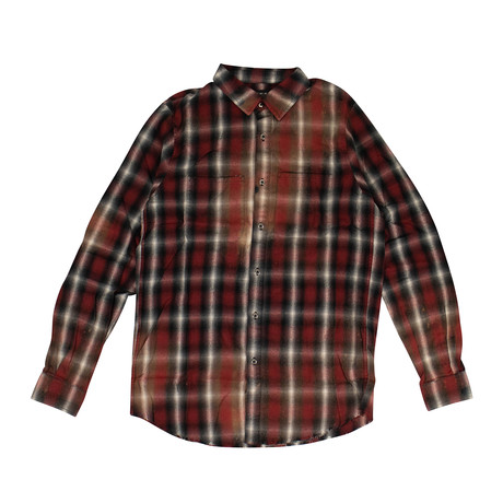 Men's Spray Plaid // Red (XS)