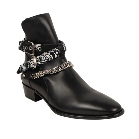Men's Bandana Ankle Boot // Black (US: 6)