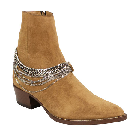 Men's Chain Ankle Boots // Brown (US: 6)