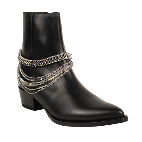 Men's Chain Ankle Boots // Black (US: 6)