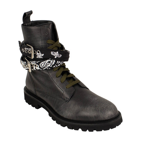 Men's Bandana Combat Boots // Black (US: 6)