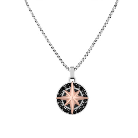 Compass Necklace // Rose