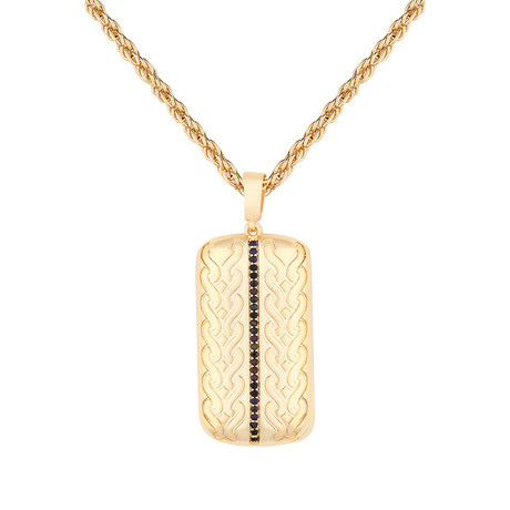 Tag Necklace // Gold