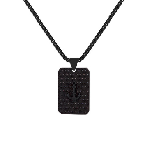 Nautical Tag Necklace // Black