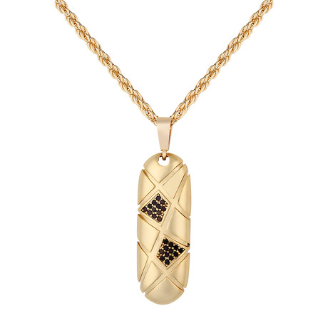 Oval Pendant Necklace // Gold