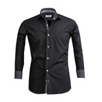 Reversible Cuff Button Down Shirt // Black (3XL)