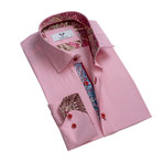 Paisley Reversible Cuff Button Down Shirt // Pink (3XL)