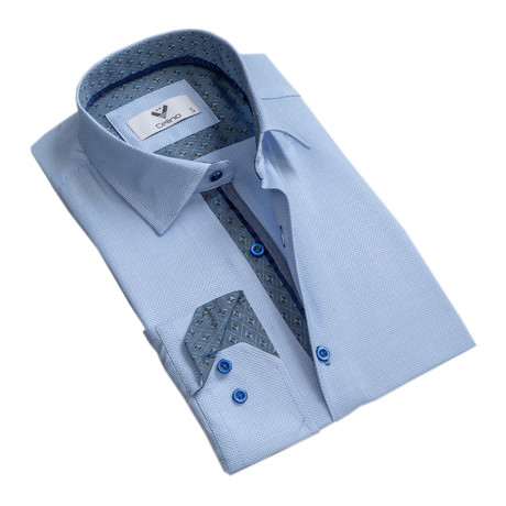 Celino // Reversible Cuff Button-Down Shirt // Light Blue (S)