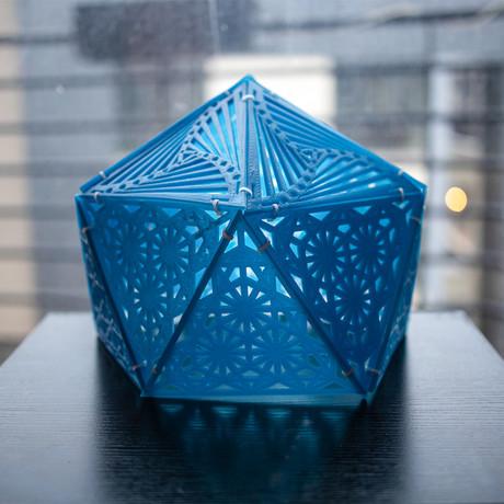 Kinetic Spiral Tetrahedron (USB Multi-Shadow // Disassembled)
