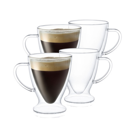 Declan Irish Double Wall Insulated Espresso Glasses // 5 oz // Set of 4