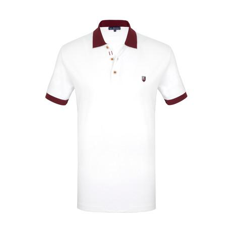 Michael Short Sleeve Polo Shirt // White (S)