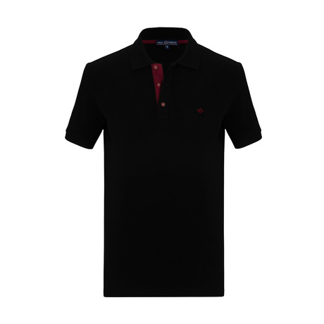 Tristan Short Sleeve Polo Shirt // Black (S)
