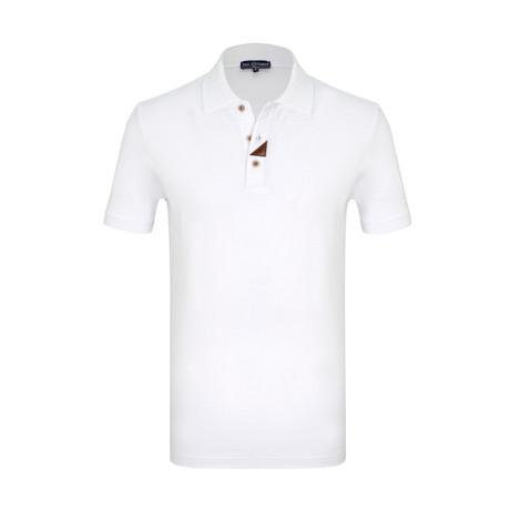 Richard Short Sleeve Polo Shirt // White (S)