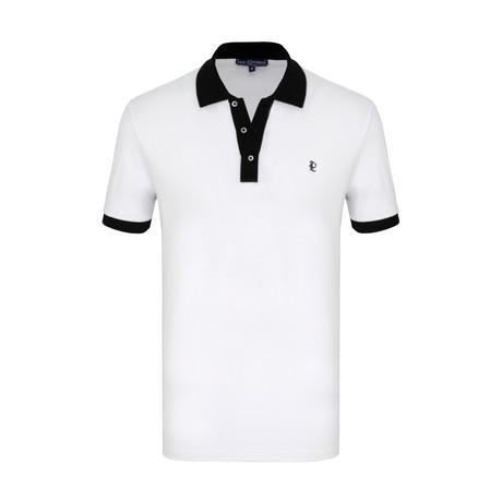 Georgie Short Sleeve Polo Shirt // White (S)