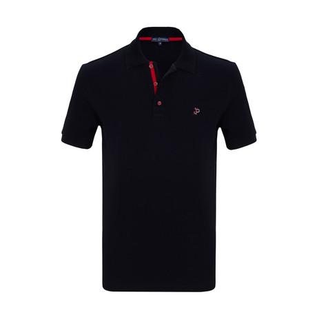 Kasper Short Sleeve Polo Shirt // Navy (S)