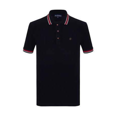 Ibraheem Short Sleeve Polo Shirt // Navy (S)