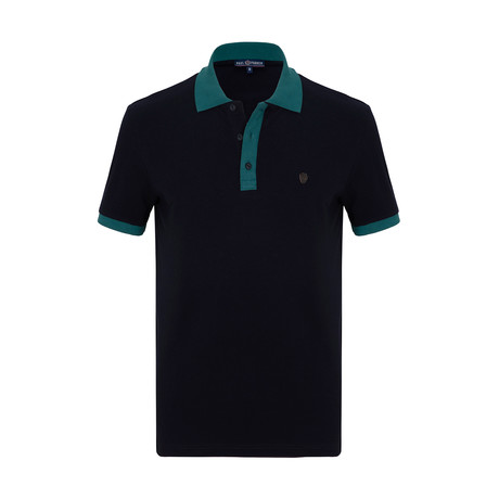 Shaun Short Sleeve Polo Shirt // Navy (S)