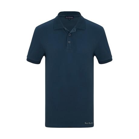 Jeffery Short Sleeve Polo Shirt // Marine (S)