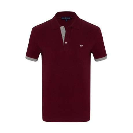 Mohammed Short Sleeve Polo Shirt // Bordeaux (S)