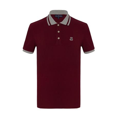 Gigi Short Sleeve Polo Shirt // Bordeaux (S)