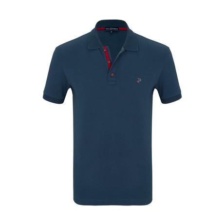 Carl Short Sleeve Polo Shirt // Marine (S)