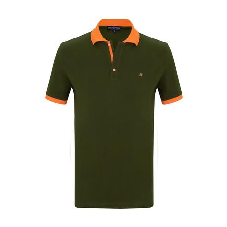 Conor Short Sleeve Polo Shirt // Khaki (S)