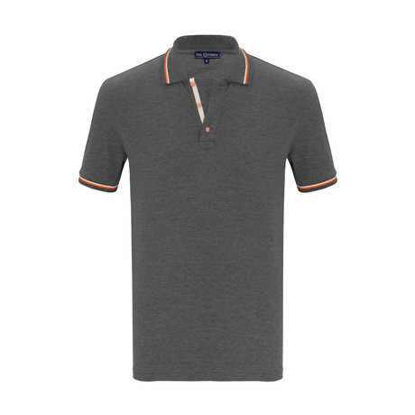 Russell Short Sleeve Polo Shirt // Anthracite (S)