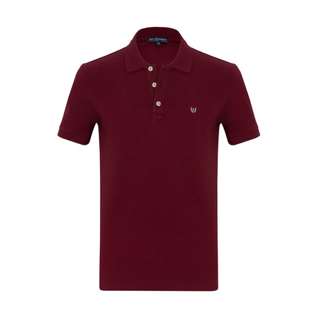 Erikson Short Sleeve Polo Shirt // Bordeaux (S)