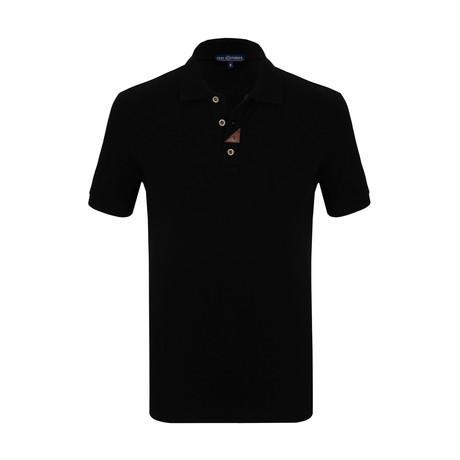 Aksel Short Sleeve Polo Shirt // Black (S)