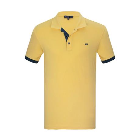 Anton Short Sleeve Polo Shirt // Yellow (S)