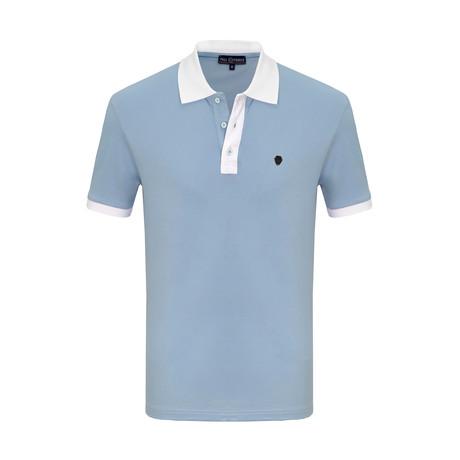 Charlie Short Sleeve Polo Shirt // Light Blue (S)