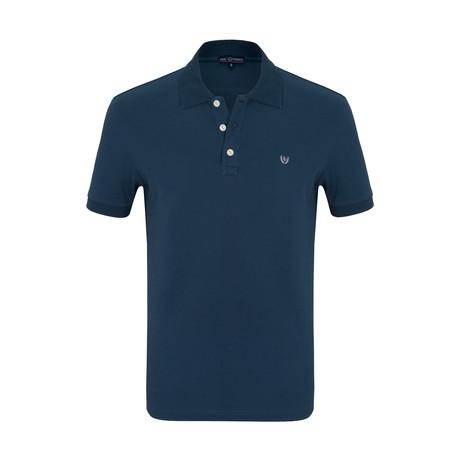 August Short Sleeve Polo Shirt // Marine (S)